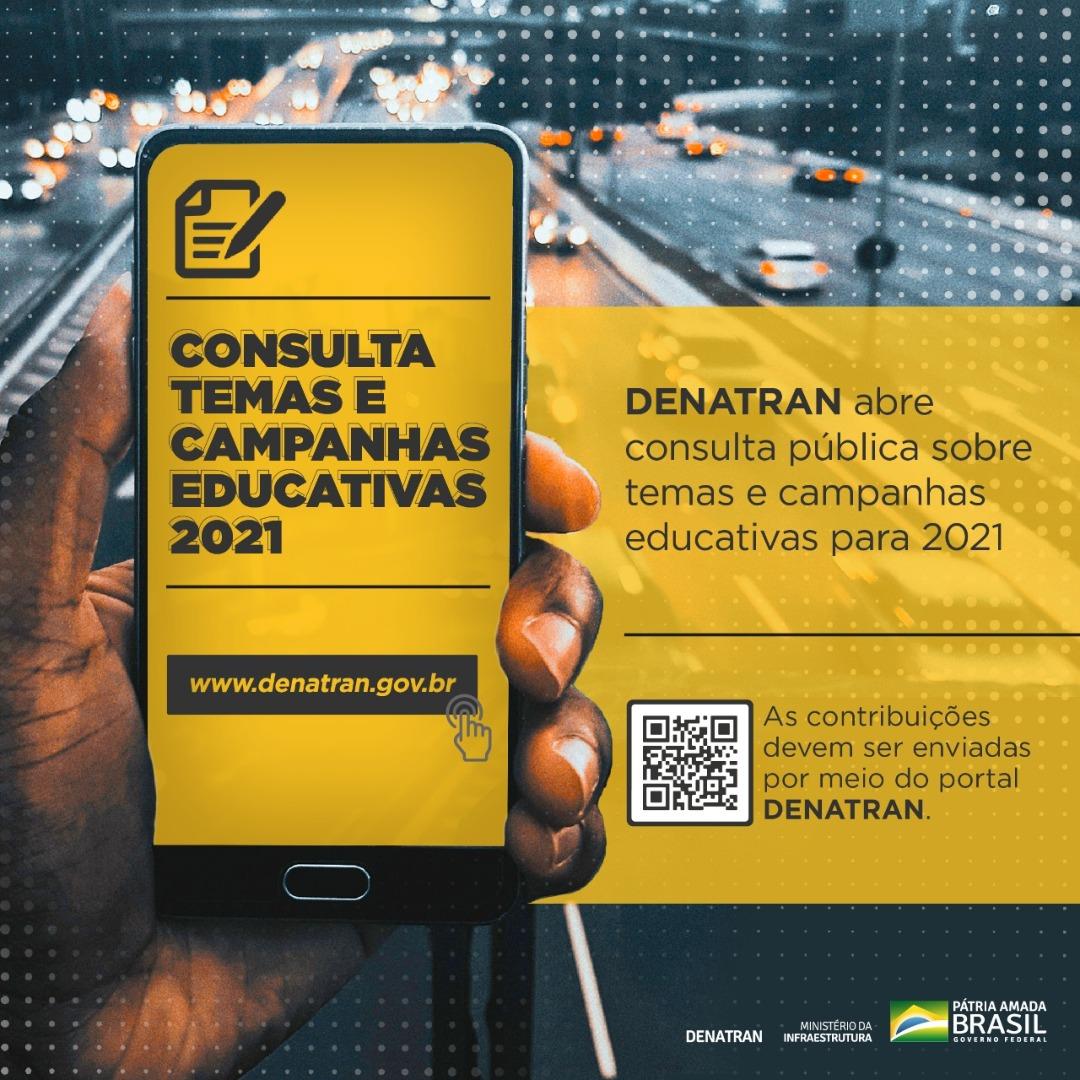Participe da consulta pública sobre as campanhas educativas do Denatran para 2021